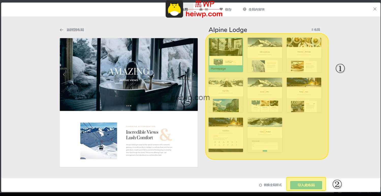 3、Brizy如何新建页面,以及下载官方在线模板?-黑WP