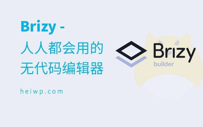 Brizy插件主页-黑WP